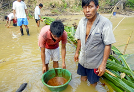 Clean up oil spills in the Amazon