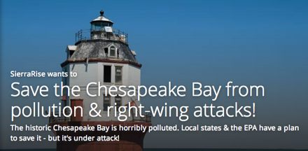 Save the Chesapeake Bay from pollution & right-wing attacks!