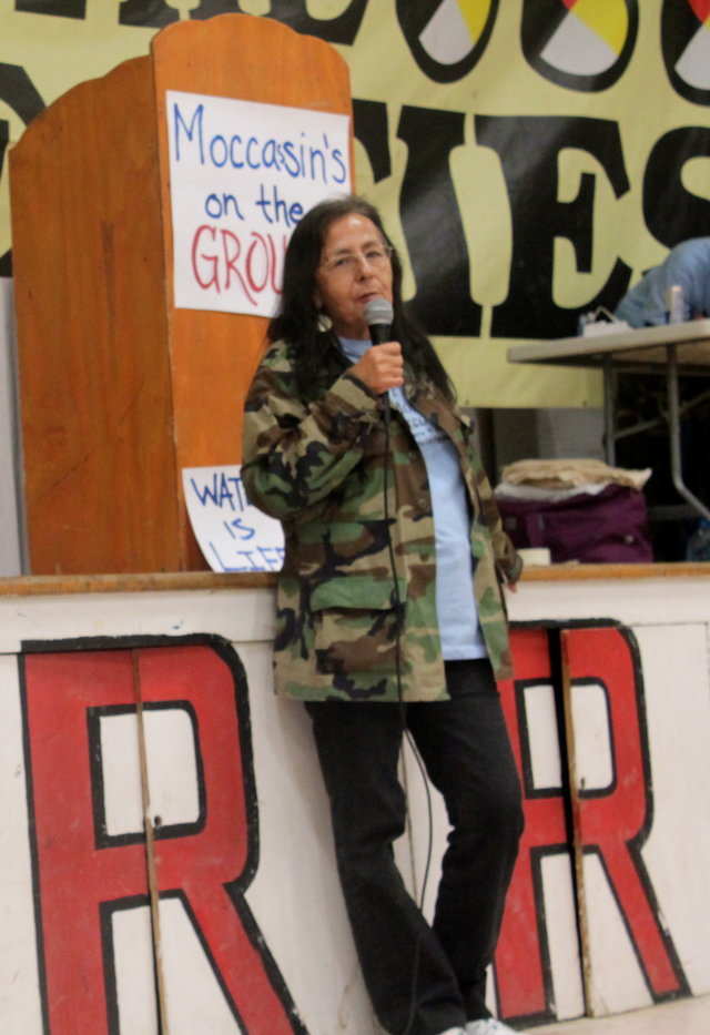 Opposing the Pipeline - Debra White Plume on the Moccasins on the Ground Tour of Resistance