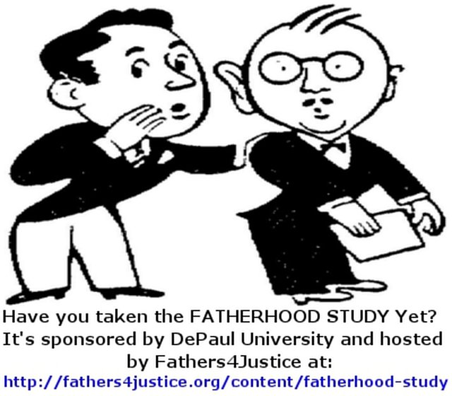 "The DePaul University ""FATHERHOOD STUDY"" hosted by Fathers4Justice"