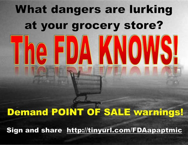 FDA: Post consumer warnings where we can see them!