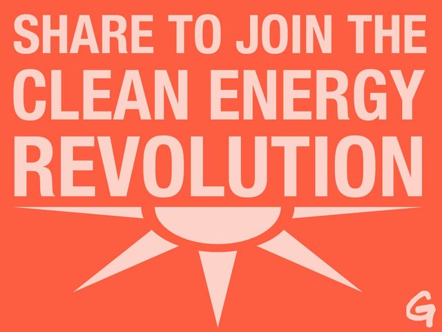 Take the pledge to share news of the energy revolution!