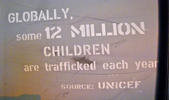raise awareness about international child trafficking