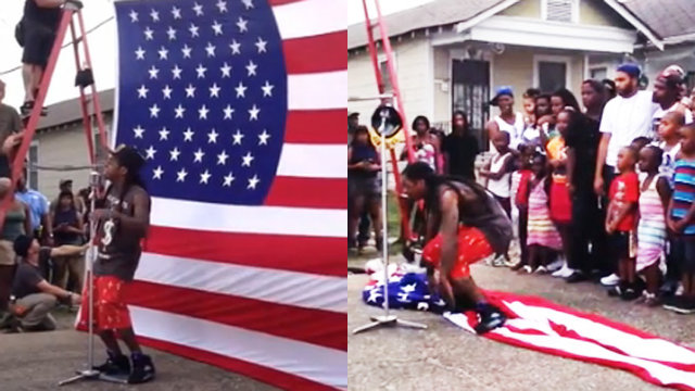 Demand that Lil Wayne apologize for stomping on the American flag