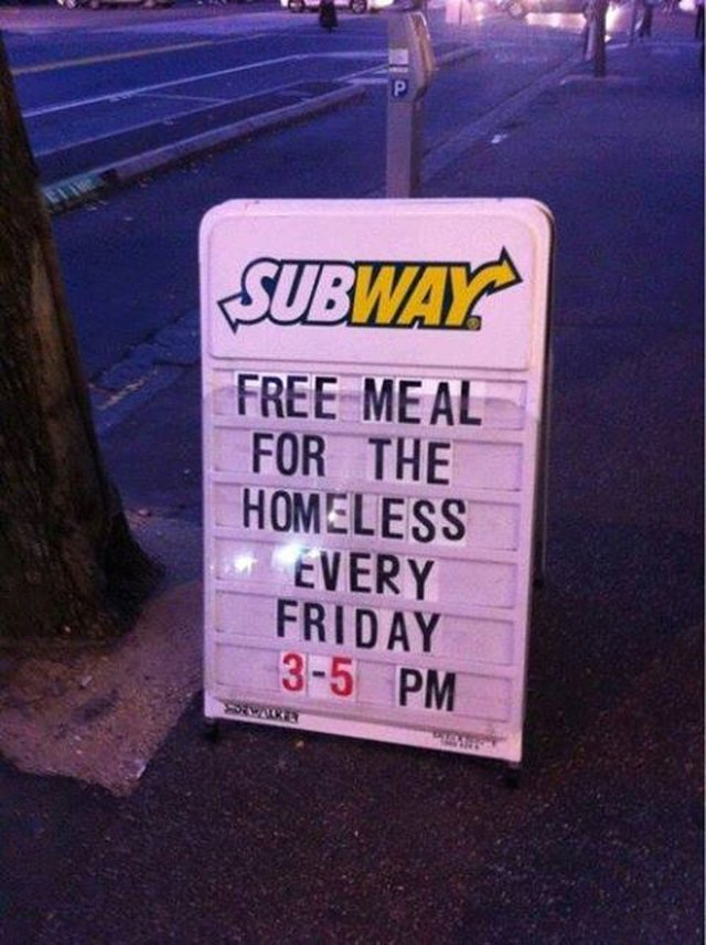 feed the homeless.