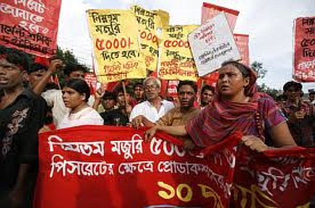 Raise the salary of garments workers
