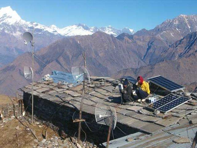 connect rural Nepali villages via wireless internet