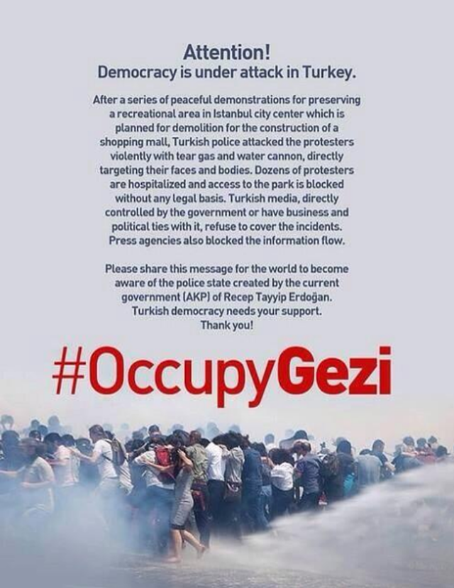 We stand with #OccupyGezi