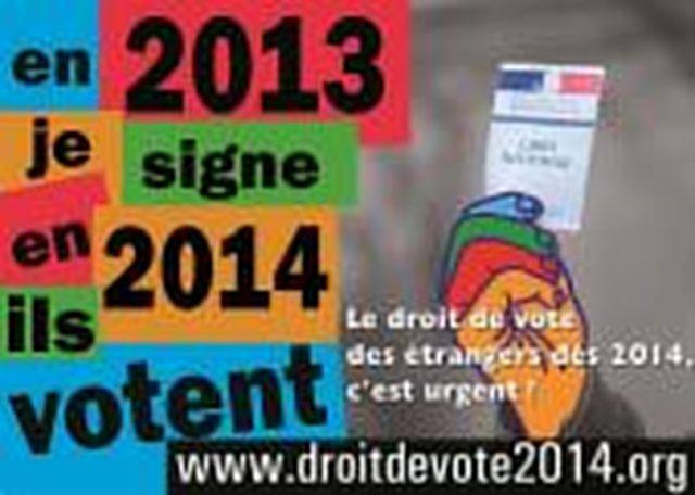 Droit de vote pour tous les résidents étrangers