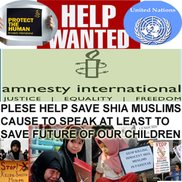 Save Innocent Shia Muslims Specially Children