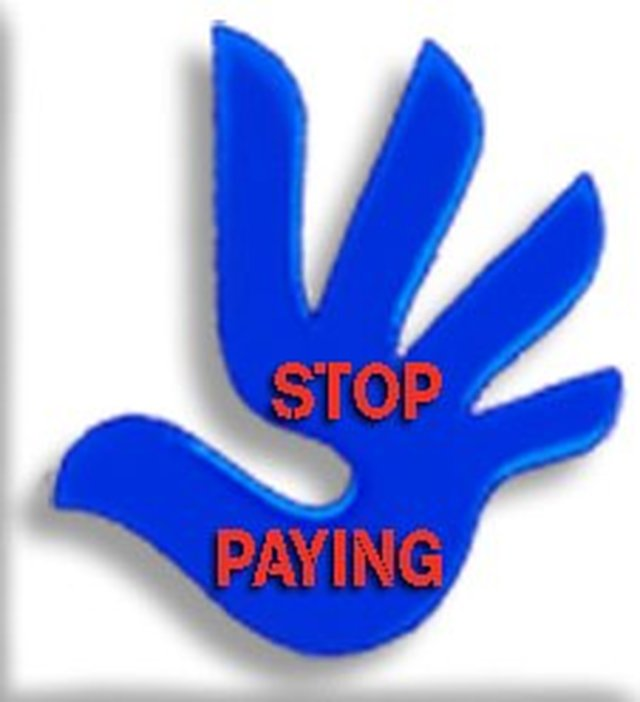LET'S STOP PAYING!