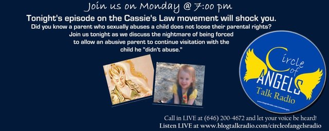 Protect children from sexually abusive parents! Support Cassie's Law!