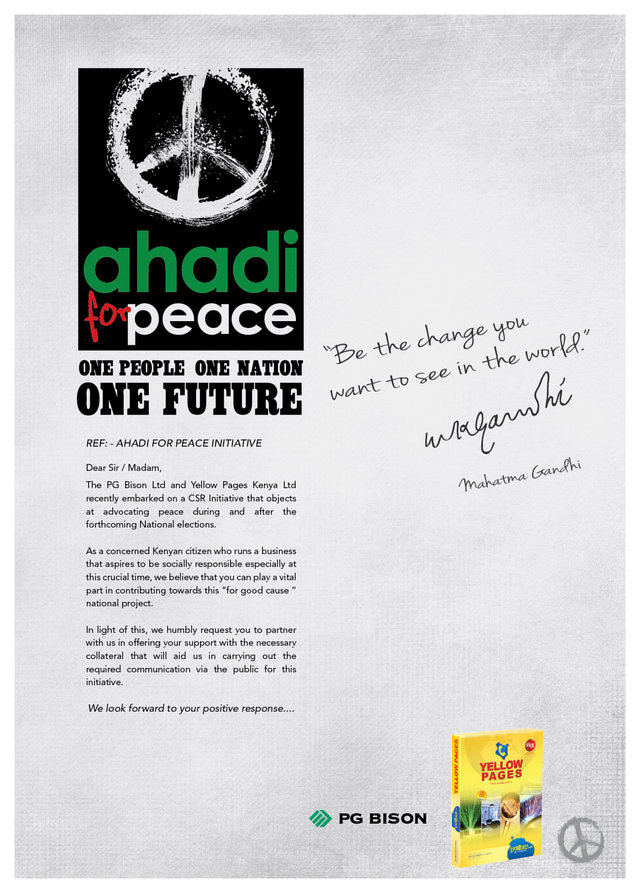 pledge your commitment to restore peace in Kenya