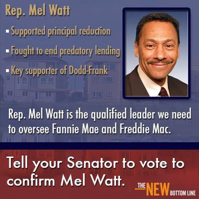 No vacation without Rep. Mel Watt's confirmation!