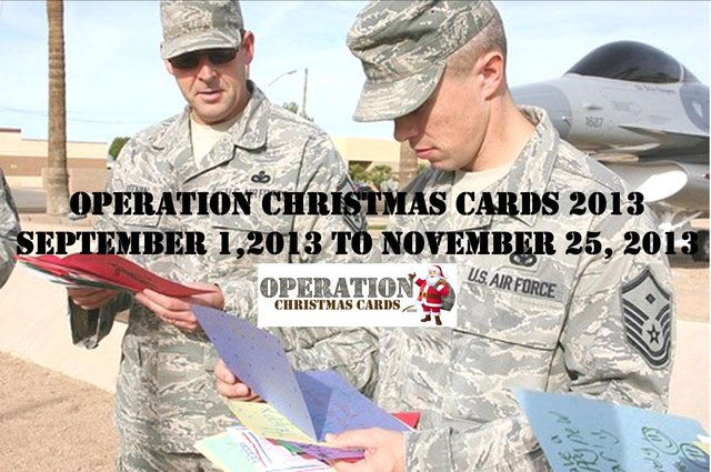 Operation Christmas Cards 2013!!