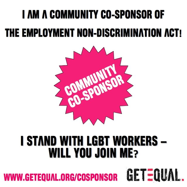 pass the Employment Non-Discrimination Act (ENDA)