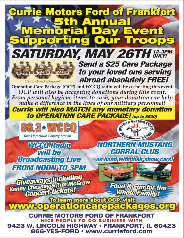 Operation care package inc causes for Currie motors frankfort illinois