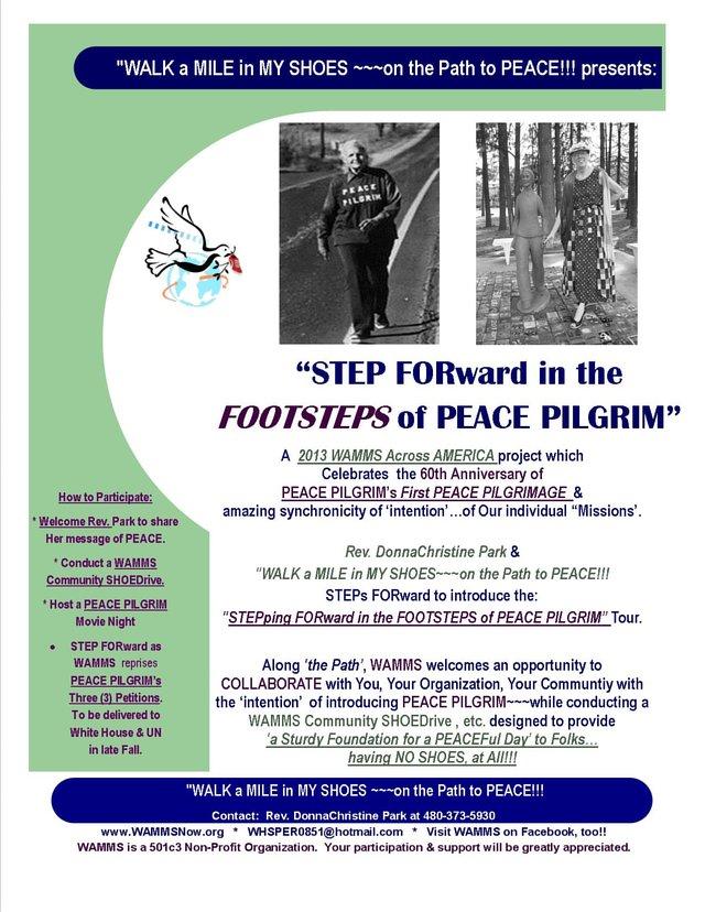 #2:  Reprising PEACE PILGRIM's Three (3) 1953 Petitions