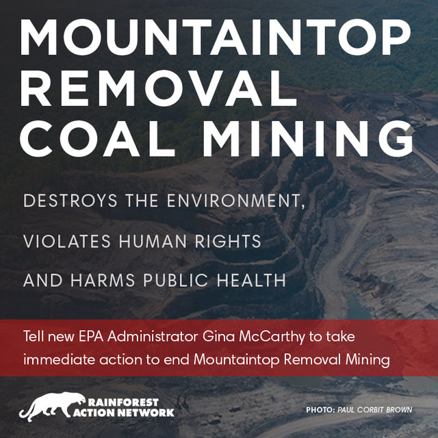 Tell New EPA Administrator Gina McCarthy to End Mountaintop Removal for Coal