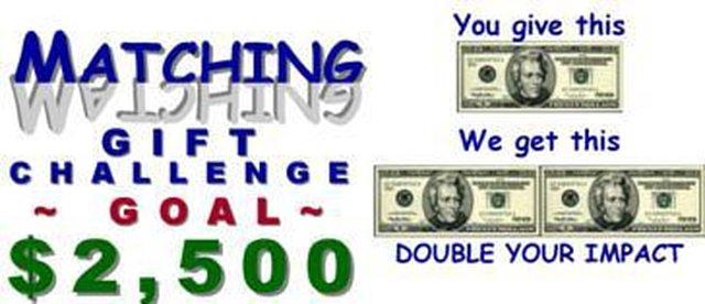 $2,500 Matching Gift Challenge