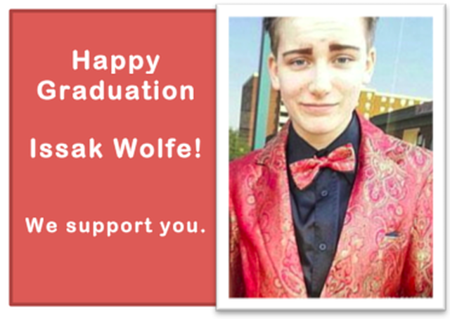 Sign the Graduation Card for Trans High School Activist Issak Wolfe!
