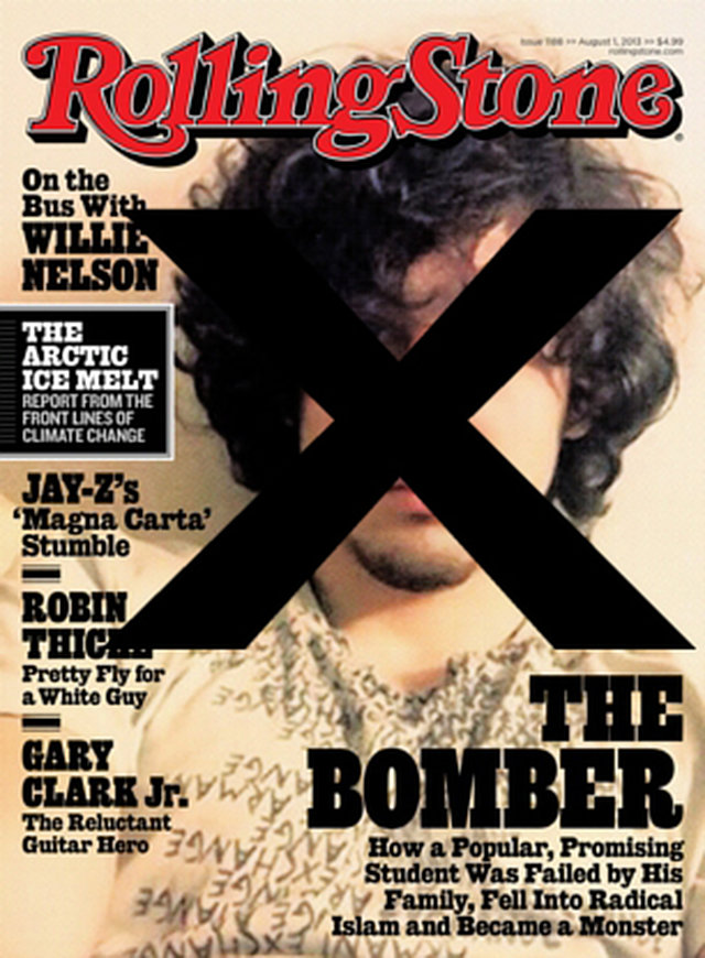 Boycott any business who Supports the Boston Bomber on the Cover