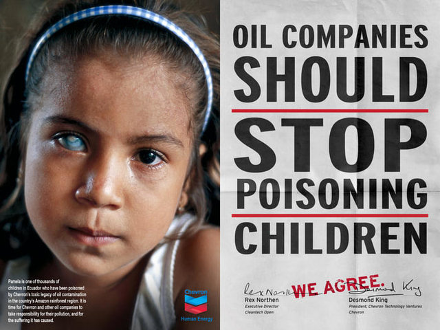 Help Ecuadorians deliver pink slip to Chevron's CEO