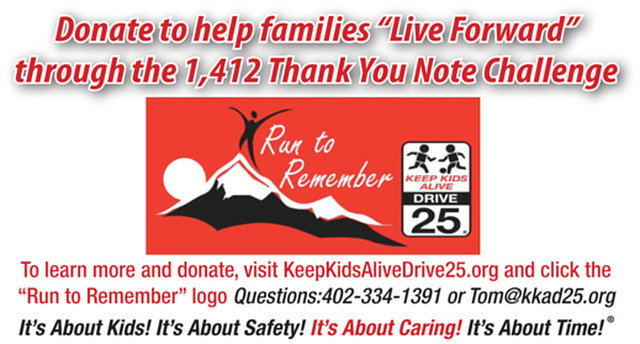 1,412 Thank You Note Challenge - Help Families Live Forward!