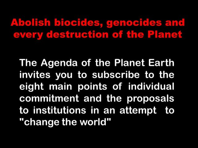 INTERNATIONAL CAMPAIGN TO END BIOCIDES, GENOCIDES AND EVERY DESTRUCTION OF THE PLANET