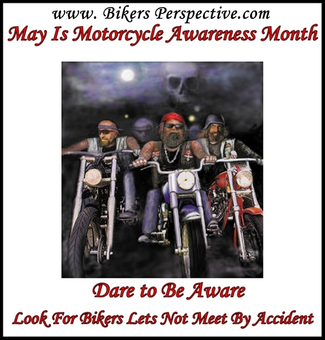 support Motorcycle Awareness Month: Dare To Be Aware
