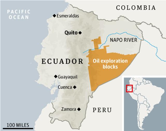 No a la subasta del Petróleo en la Amazonía Ecuatoriana