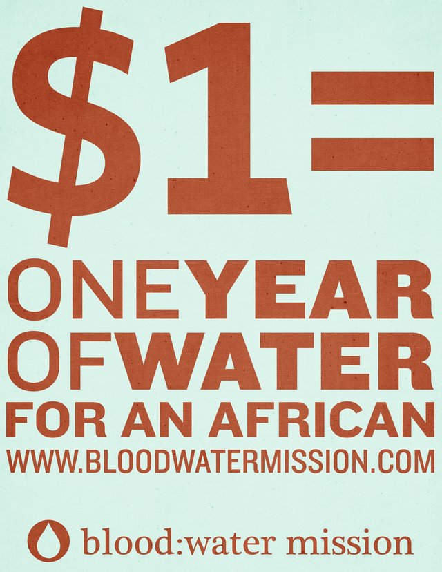 support the blood Water Mission