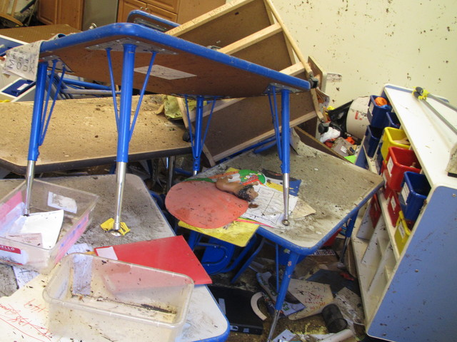 VCLC Loses Two Classrooms in Destructive Flood
