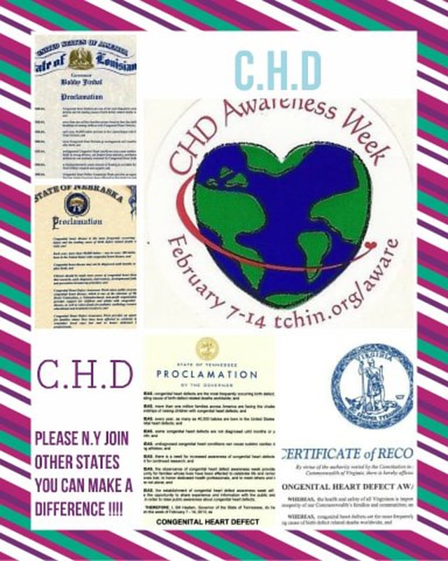 Congenital Heart Disease (CHD) Awareness Week.