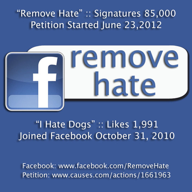 Remove Animal Hate From Facebook