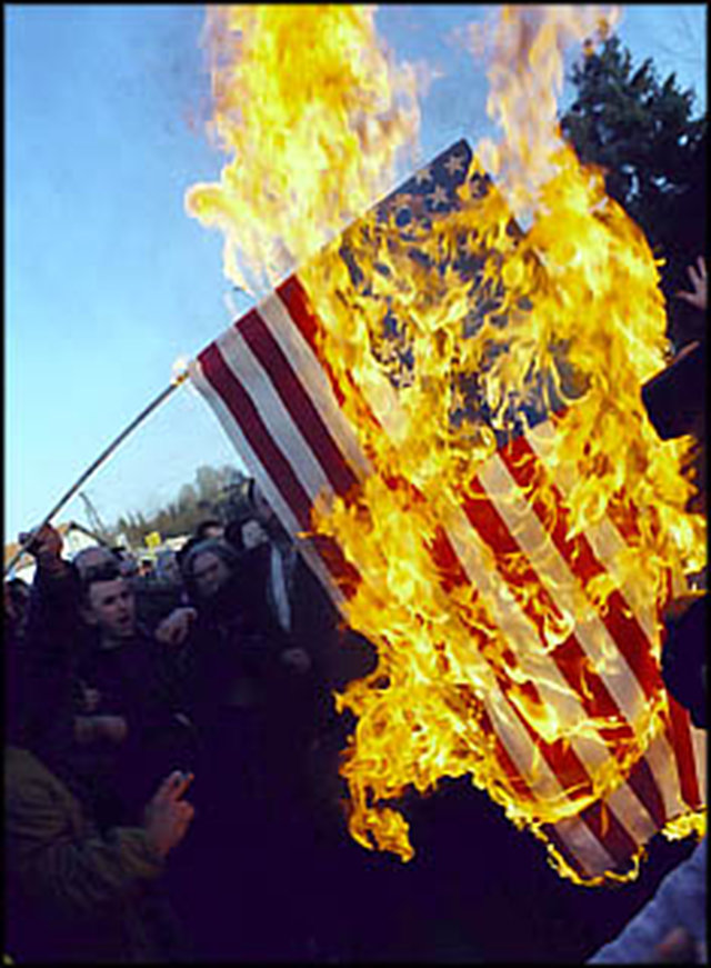 Tell Congress to Make Flag Desecration a Crime!