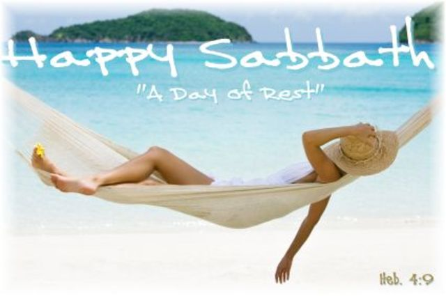 Sabbath A Day Of Rest Causes