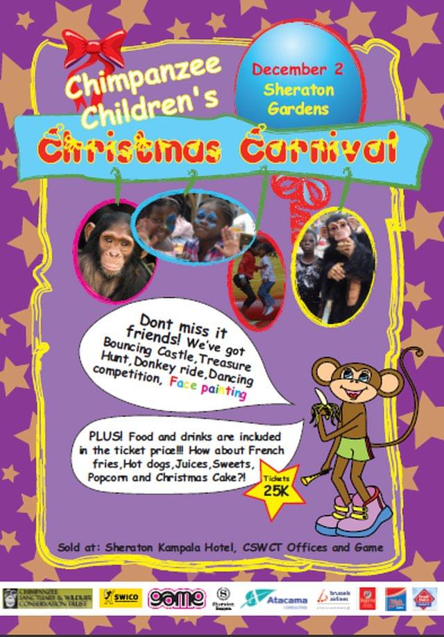 Chimpanzee children's christmas carnival - Kampala