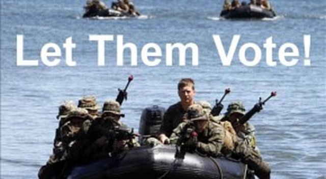 ALL military votes must be counted FIRST before any public votes are tallied
