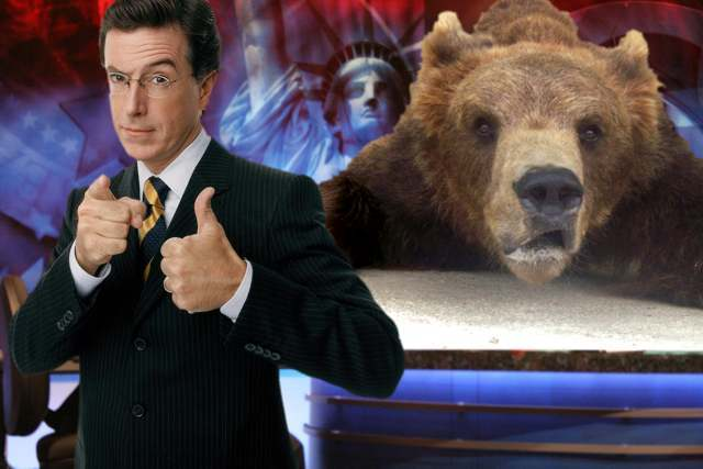 tweet at Stephen Colbert to raise awareness of bear-baiting