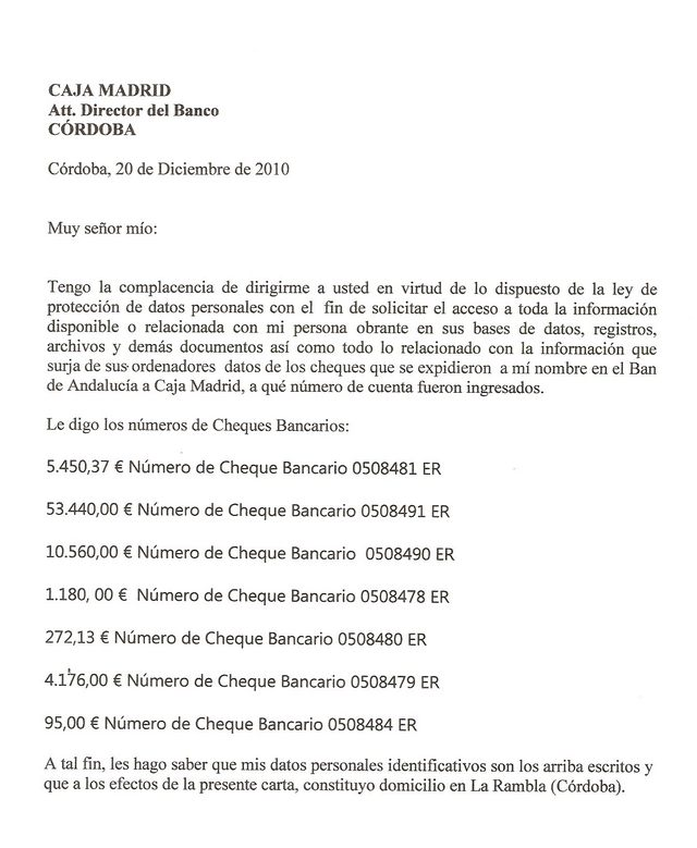 DEFENSA  A LOS MINUSVALIDOS, Cordoba!
