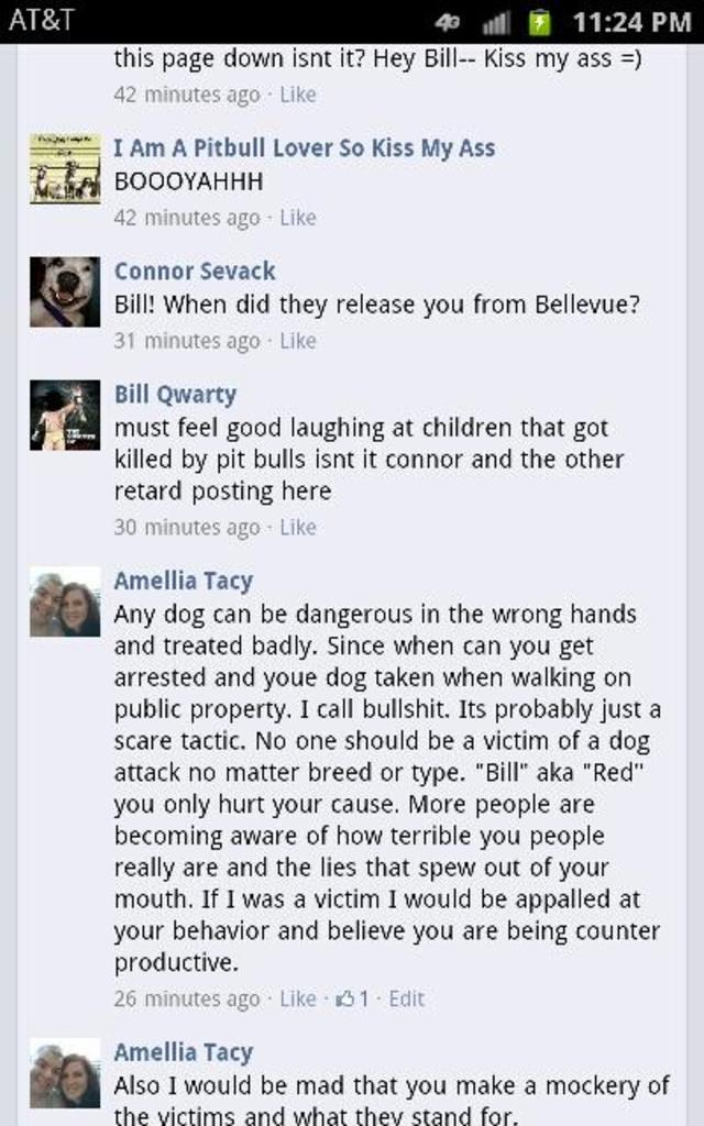 """Get """"i hate pitbulls"""" facebook page removed!"""