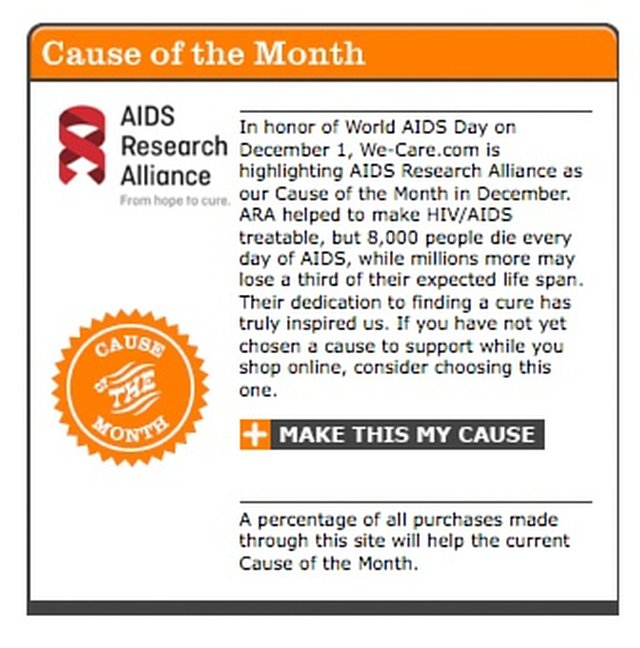 Support AIDS Research Alliance While You Shop