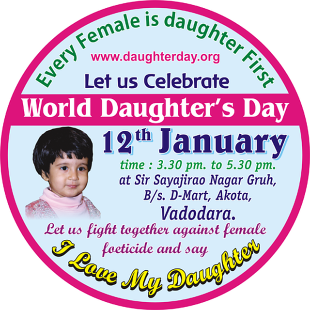 Celebrate WORLD DAUGHTER'S DAY - 12TH JANUARY 2014