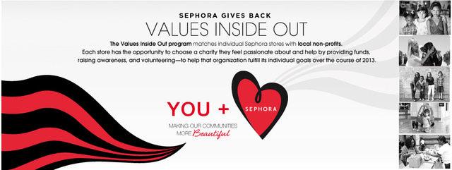 Sephora Values Inside Out Awareness Program.