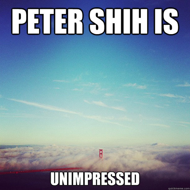 have Peter Shih leave the city he hates so dearly