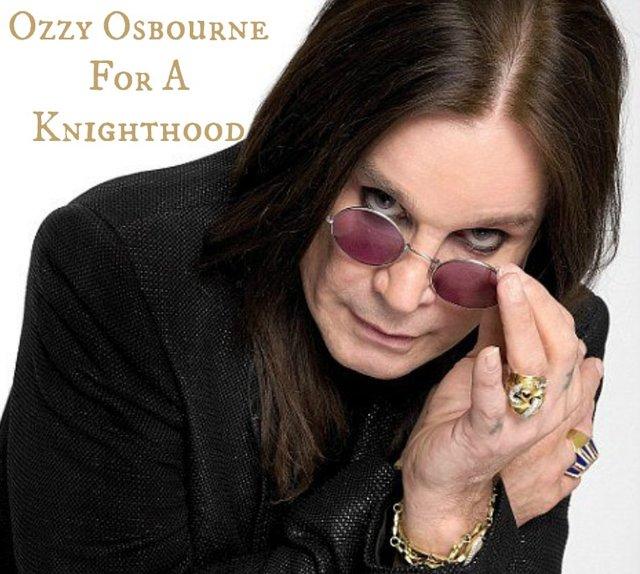 Knight Ozzy Osbourne.