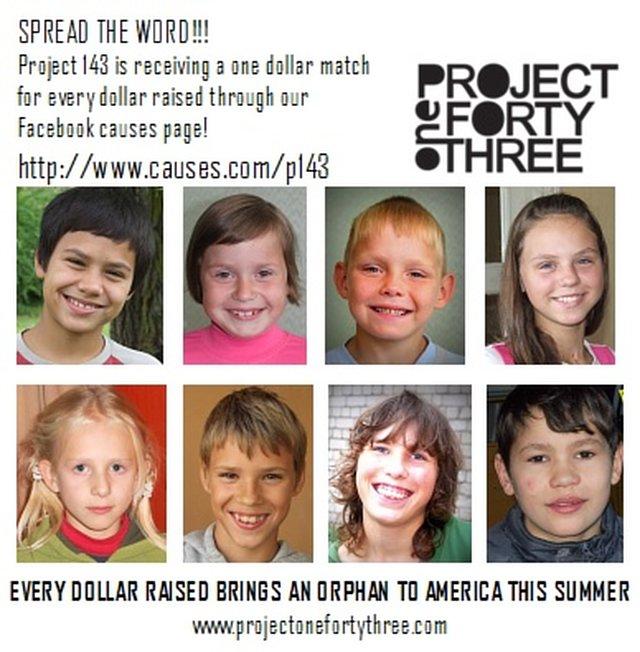 Matching Dollar for Dollar Challenge for P143 Orphan Host Program