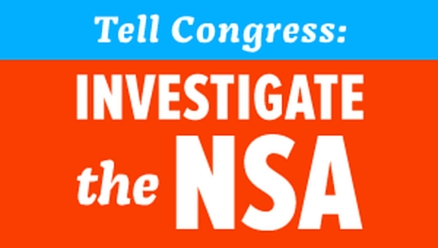 stop the NSA's unconstitutional spying.